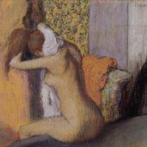 Après le bain, femme s'essuyant la nuque (1895)