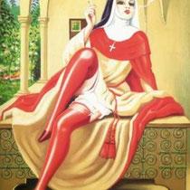 Religieuse italienne fumant la cigarette (1944)