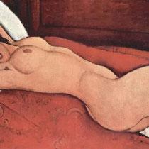 Nu couché les bras croisés derrière la tête (1917)
