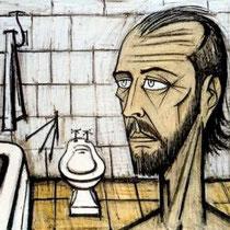 Autoportrait dans la salle de bain (1988)