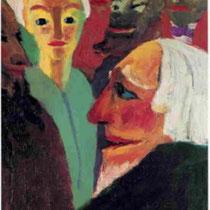 Junge Frau und Männer (1921)