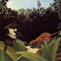 Eclaireurs attaques par un tigre (1904)