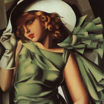 Girl in Green with Gloves (1929)