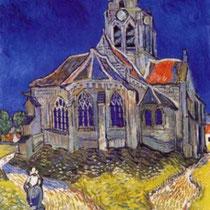 Eglise Auvers sur Oise (1890)