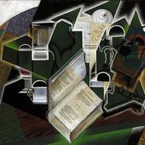 Livre, pipe et verres (1915)