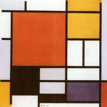 Composition with Red, Yellow, Blue and Black (1921)