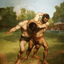 Les lutteurs (1853)