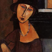 Jeanne Hbuterne with hat (?)