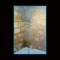 Supervortex (type statique) - superposition de lamelles de verre de 2 mm découpées et collées