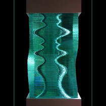 Onduline - pièce en verre de 25/25/45 cm, insérée dans une colonne de 28/28/220 cm