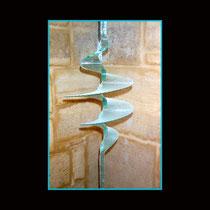 Supervortex (détail) - diam 36 cm/ H.: 200 cm ; base 8/8 cm