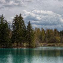 Bavarian torquoise lake. 1