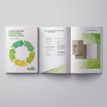 """Diseño del Catálogo de """"Productos Reciclados"""" de 96 páginas. Ecoembes"""