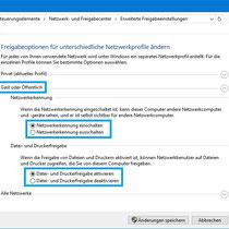 """Freigabeoptionen für Profil """"Gast oder Öffentlich"""" evtl. anpassen"""