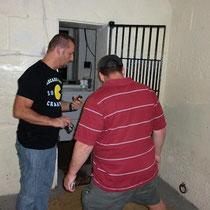 Le cachot où l'on enchaînait certains prisonniers indisciplinés.