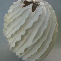 """Coral Swirl Vessel, 13"""" x 10"""" x 10"""""""