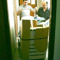 la fotocopiatrice è felicemente arrivata al piano di destinazione