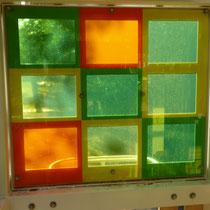 farbiges Makrolonfenster