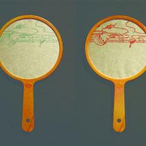 うきよのまどのうち 2011 木版画、雁皮紙、ポイ 各10×15cm 一部個人蔵