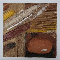 série d'ocre et de sable, 20 x 20 cm, 47 euros