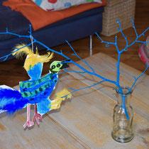 un oiseau sur une branche, atelier idéephémère, 64260 Bielle