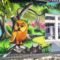 Fassadenmalerei mit Graffiti