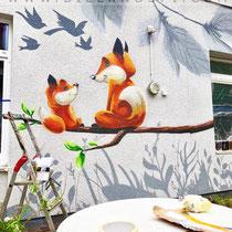 Kitamalerei mit Graffiti