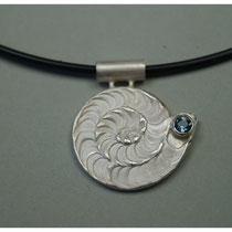 Seeschnecke 925er Silber mit Beryll / 159,-€