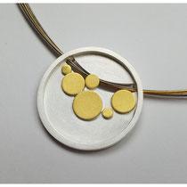 Anhänger Dots 925er Silber mit Feingold / 410,-€