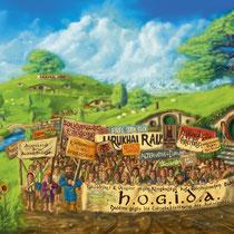 Hobbits gegen Ausländer // 2015 // Digitale Malerei // 80x60cm