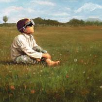 Boy in a Pasture // 2016 // 143x80