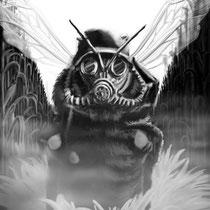 Die letzte Honigbiene // 2014 // Digitale Malerei // (120x80)