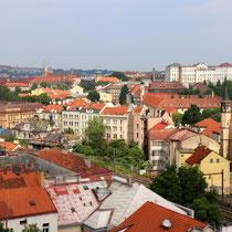 Unterwegs im Stadtteil Vysehrad - Blick auf die Stadt