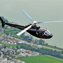 Hubschrauber beim Rundflug