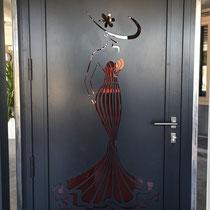 porte entrée élégante