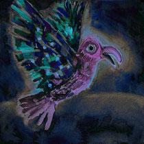 Smaragd-Vogel - Falschfarben