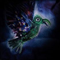 Smaragd-Vogel - Selektive Beleuchtung