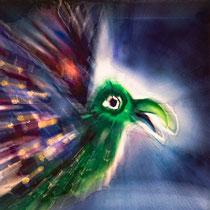 Smaragd-Vogel - Zoom-Explosion