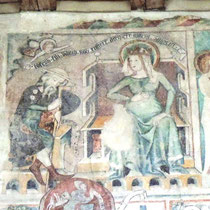 Fresko in der Martinskapelle Bregenz