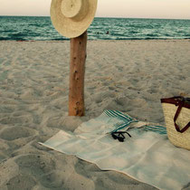 Fouta de plage lin