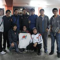Josépha au Pérou, accompagnée d'une équipe de basket