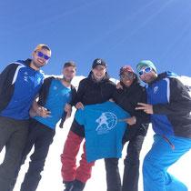 Mathieu, Julien, Matthieu, Alioune et Thibaud à Val Thorens