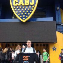 Josépha en Argentine, à Buenos Aires (stade de la Boca)