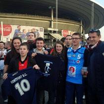 Charlène, Typhaine, Stéphane, William, Mathilde, Nil, Etienne et Jérôme au Stade de France