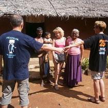 Guy, Jeanine et Brigitte au Sri Lanka