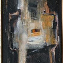 Titel Nr.7: Kreuz Entstehungsjahr: 1996 Breite: 45 cm, Höhe: 100 cm Acryl auf Leinen
