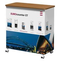 EUROcounter ET Falttheke mit Textildruck