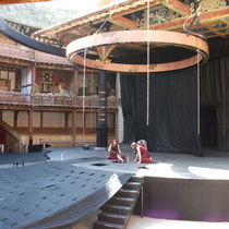 Macbeth rehearsals. Shakespeare's Globe London.