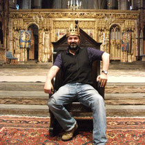 On the throne .Westminster Abbey