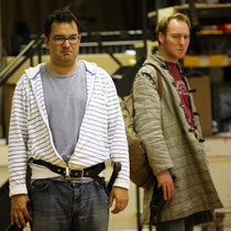 Bardolph and Nym in rehearsal RSC.